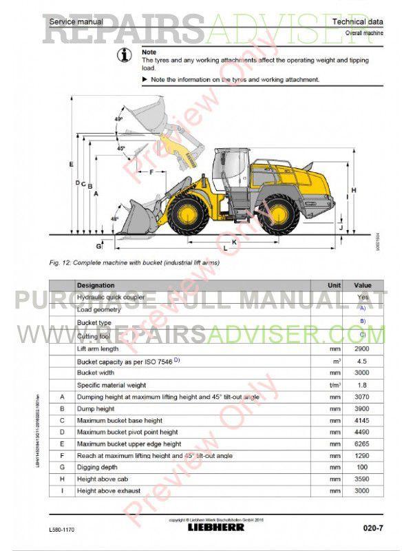 liebherr l580 1170 wheel loader service manual pdf download. Black Bedroom Furniture Sets. Home Design Ideas