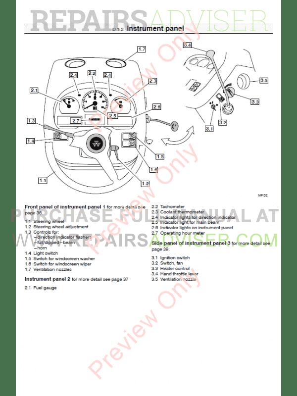 Massey Ferguson 4400 series tractor Service Manual PDF Download