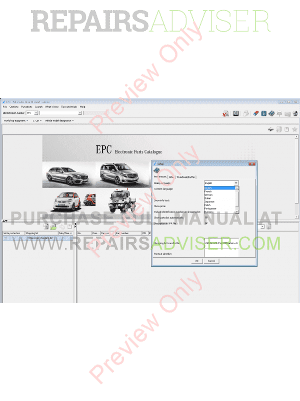 Mercedes EPC Electronic Parts Catalog 2018