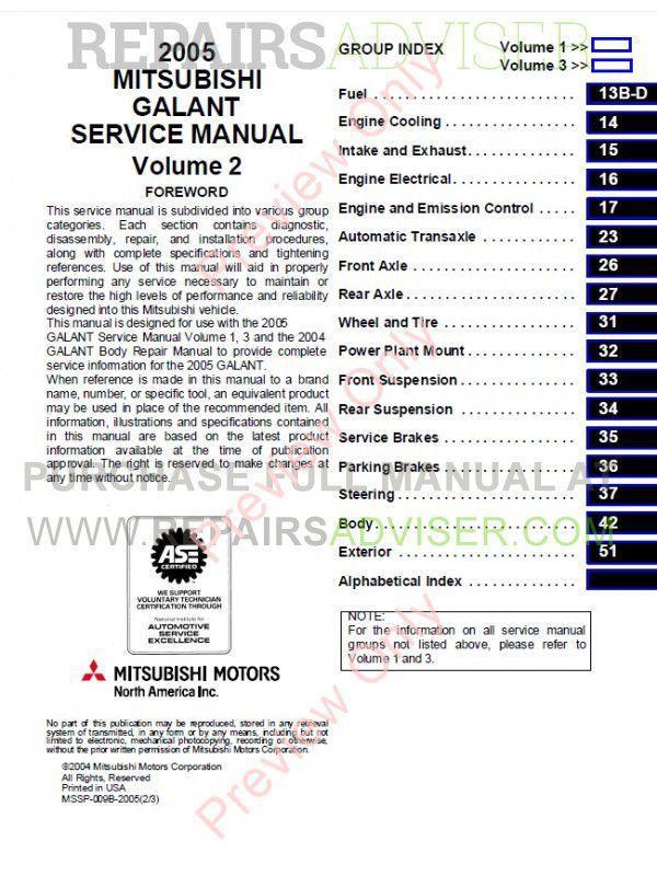 mitsubishi motors manuals
