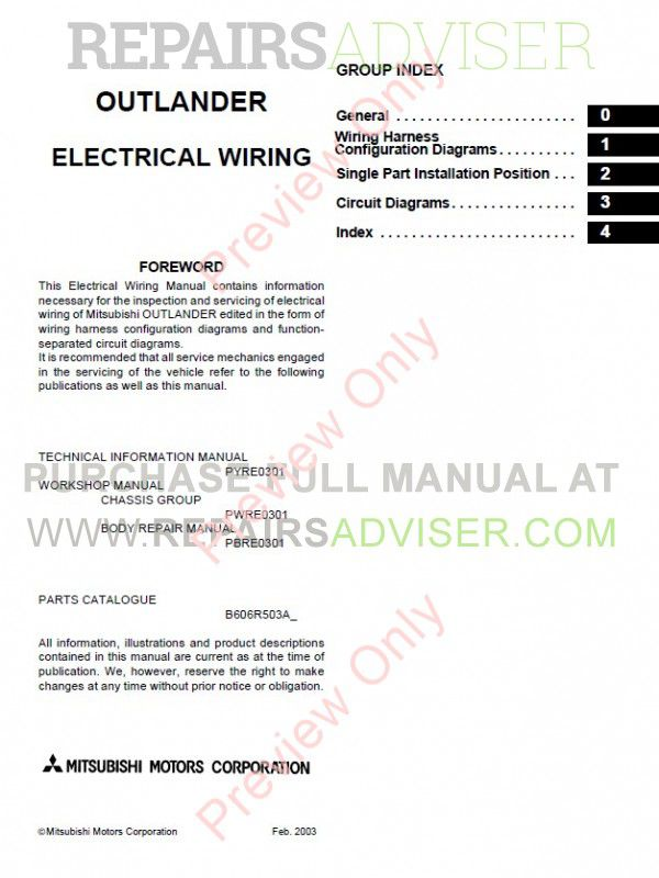 Mitsubishi outlander 2003 2006 workshop manual pdf download mitsubishi outlander 2003 2006 workshop manual pdf manuals for cars by repairsadviser asfbconference2016 Gallery