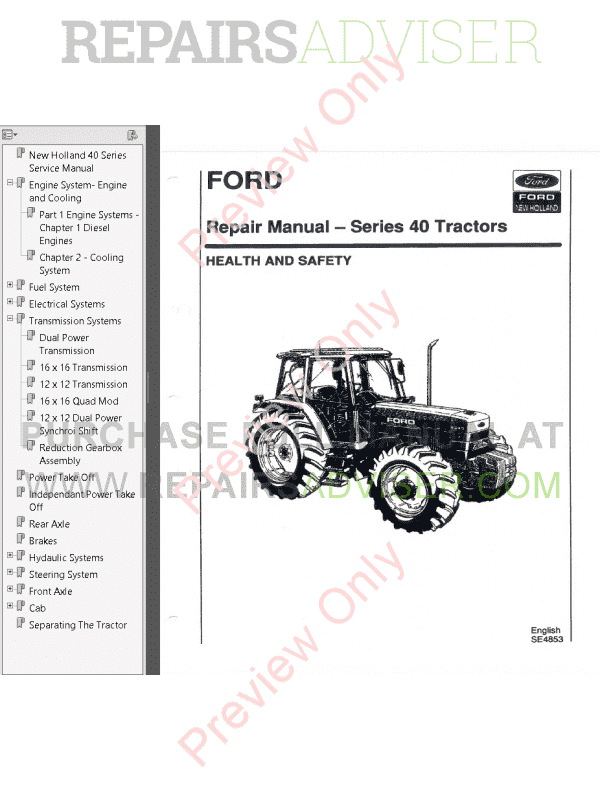 Manuals New Holland 7840