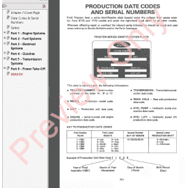 Ford tractor operation Manual 4630 on