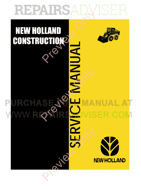 New Holland L225, L325, L425, L445 Skid Steer Loaders Service Manual PDF