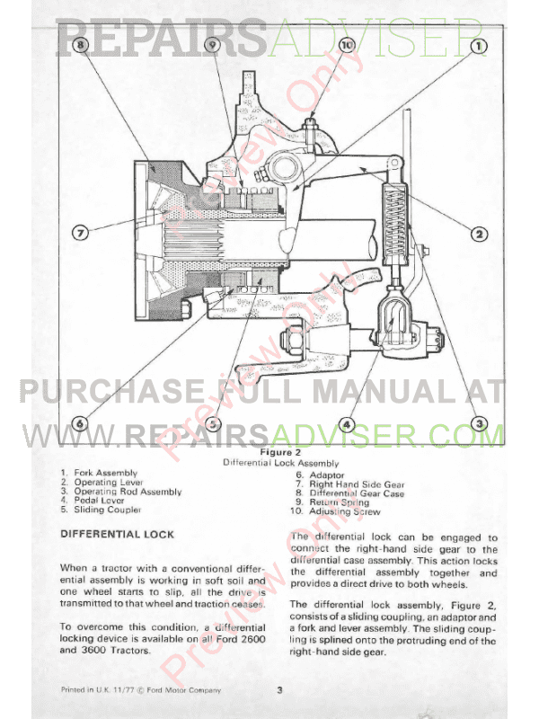 New Holland Ford Series 10 Tractor Repair Manual Volume1 Volume2