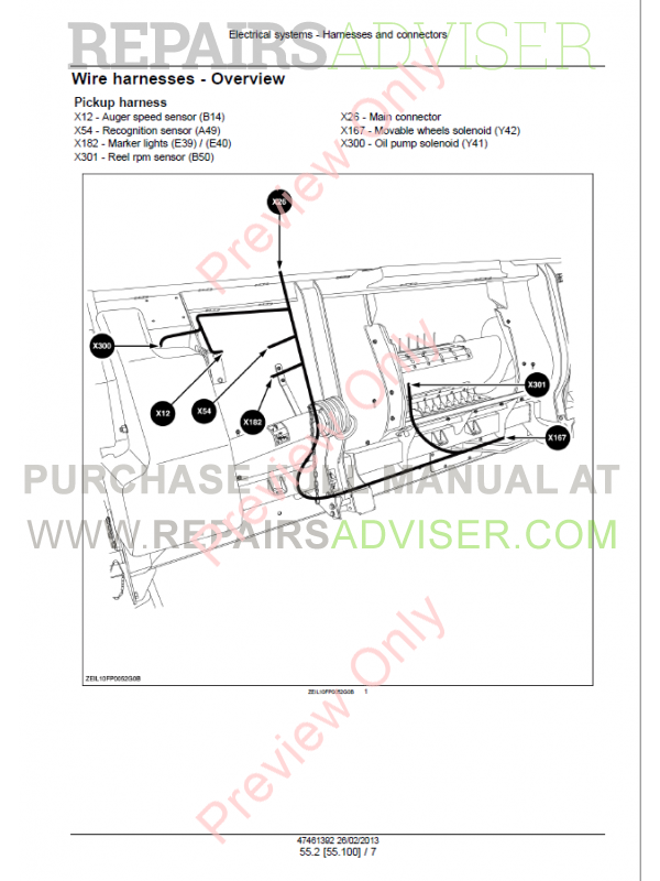 New Holland 300FP, 380FP Header Service Manual PDF Download