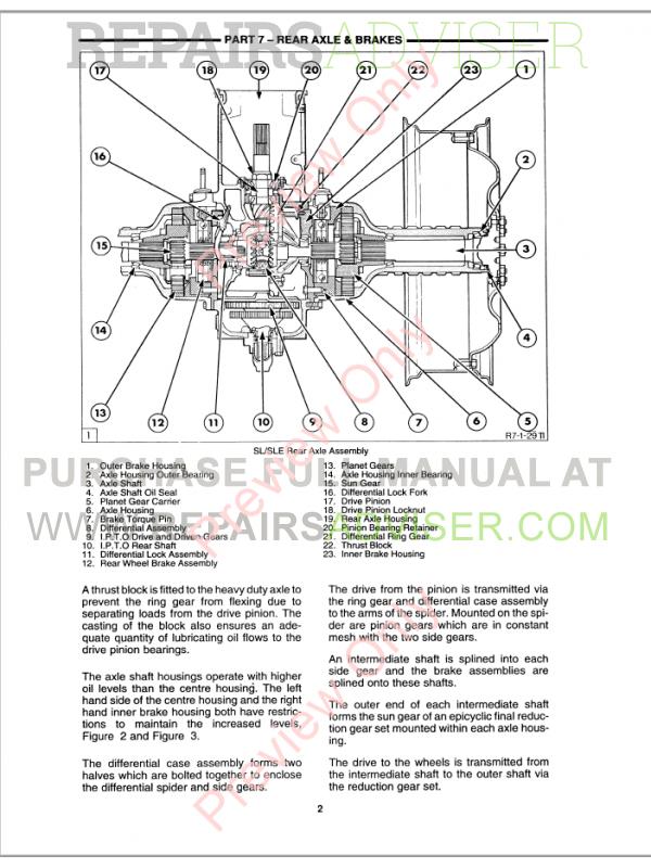 New Holland 40 Series Tractor 5640-8340 Repair Manual Download