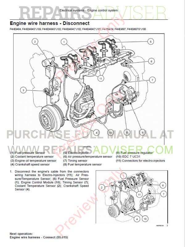 New Holland F4ce9484 F4he9687 Nef Tier3 Engine Service Manual
