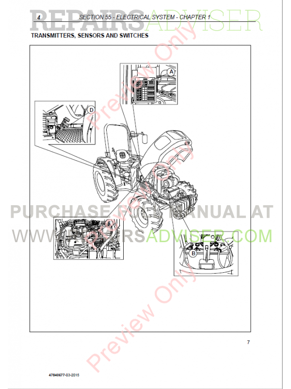 Service manual New Holland Tractor Mc3500