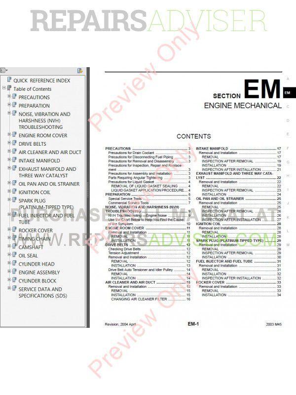 service manual 2002 infiniti i free online manual. Black Bedroom Furniture Sets. Home Design Ideas