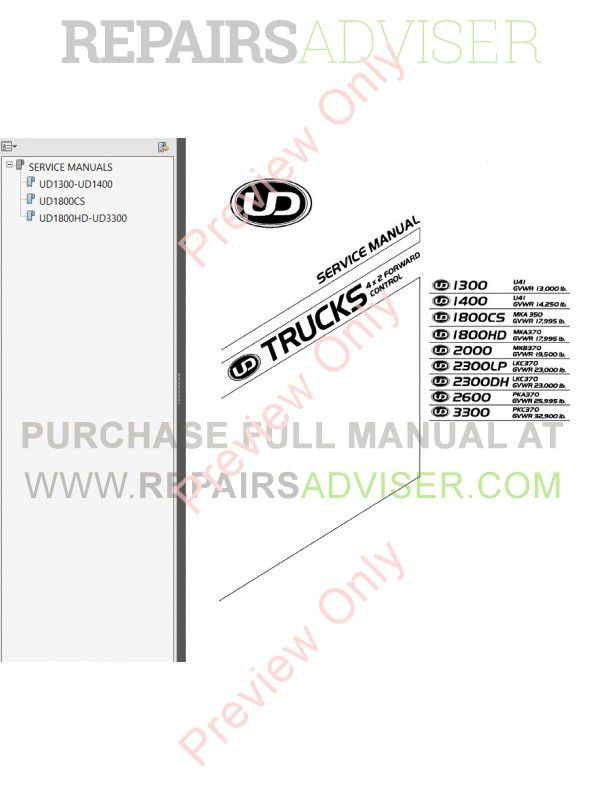 Nissan Ud service Manual Free