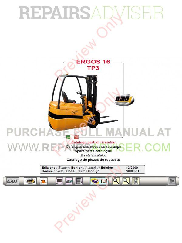 OMG Forklifts EPC Electronic Parts Catalogue Download