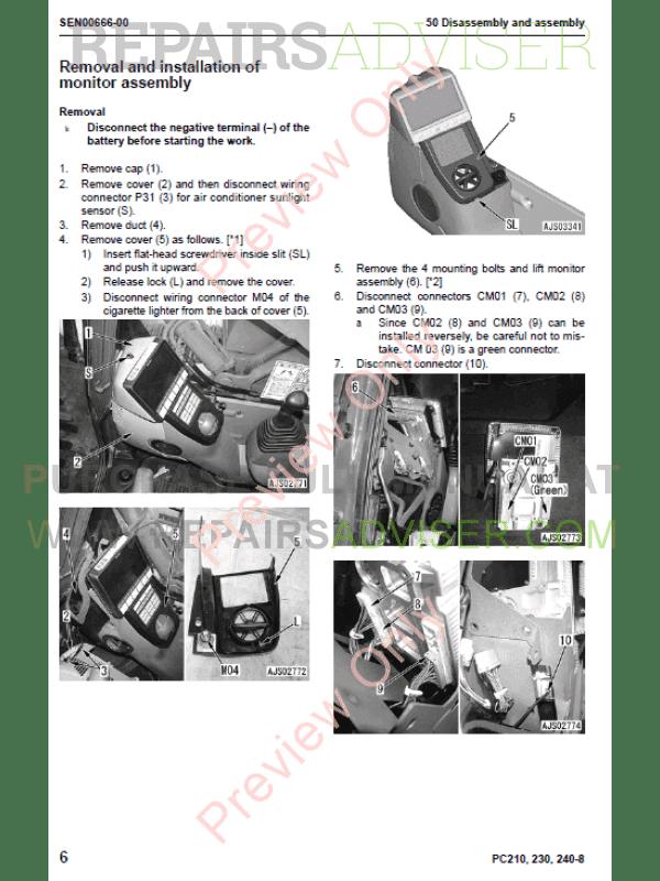 komatsu pc210 shop manual