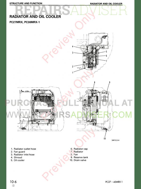 komatsu hydraulic excavator pc27mrx-1, pc30mrx-1, pc35mrx-1, pc40mrx