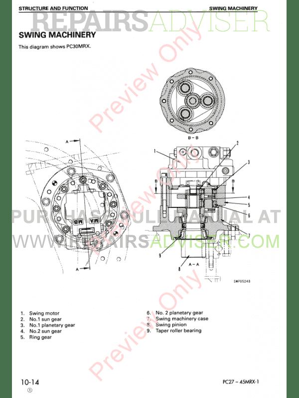 Komatsu Hydraulic Excavator PC27MRX-1, PC30MRX-1, PC35MRX-1