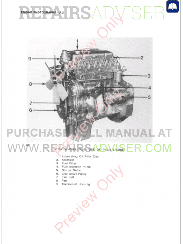 Perkins 4 2482  4 248  T4 236  4 236  4 212  T4 38 Diesel Engines Workshop Manual Pdf Download