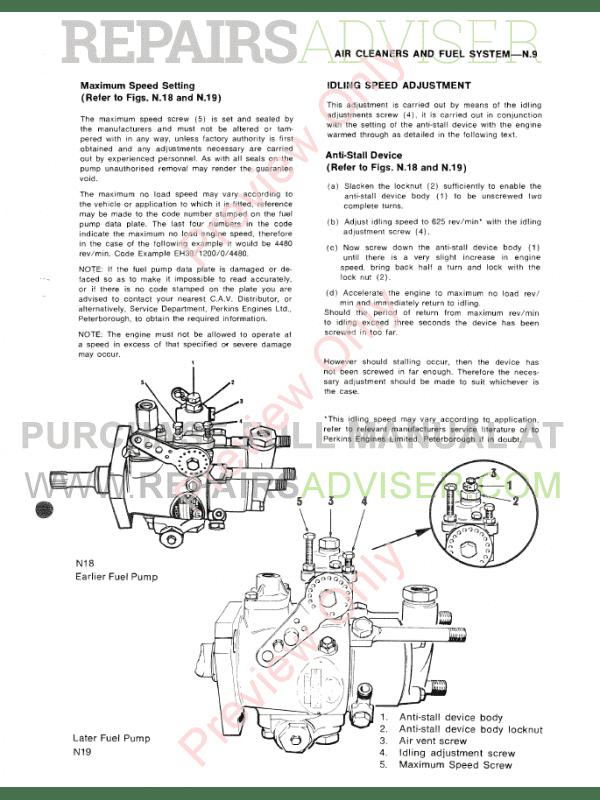 Perkins Diesel Engines 4 108M, 4 107M, 4 99M Set of PDF