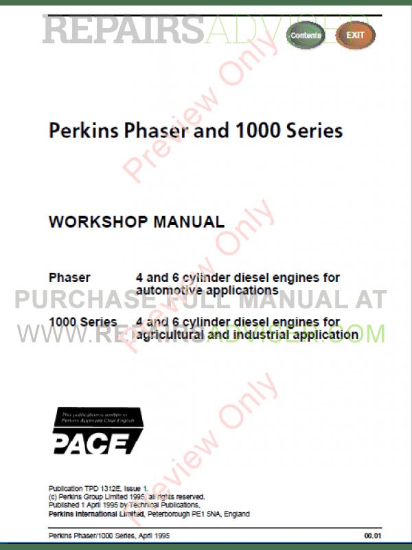 Perkins 1006 6 Service manual