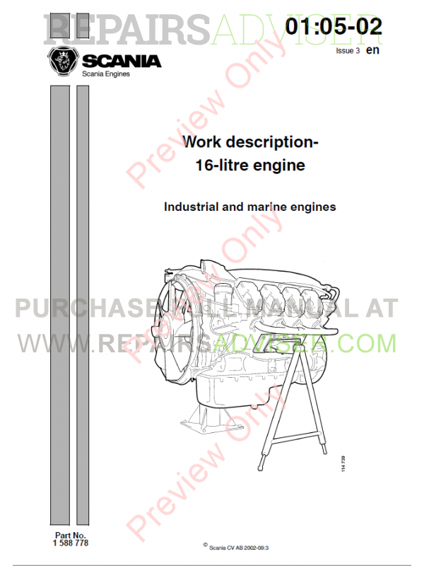Scania DC16 Industrial and Marine Engines Set of Manuals PDF