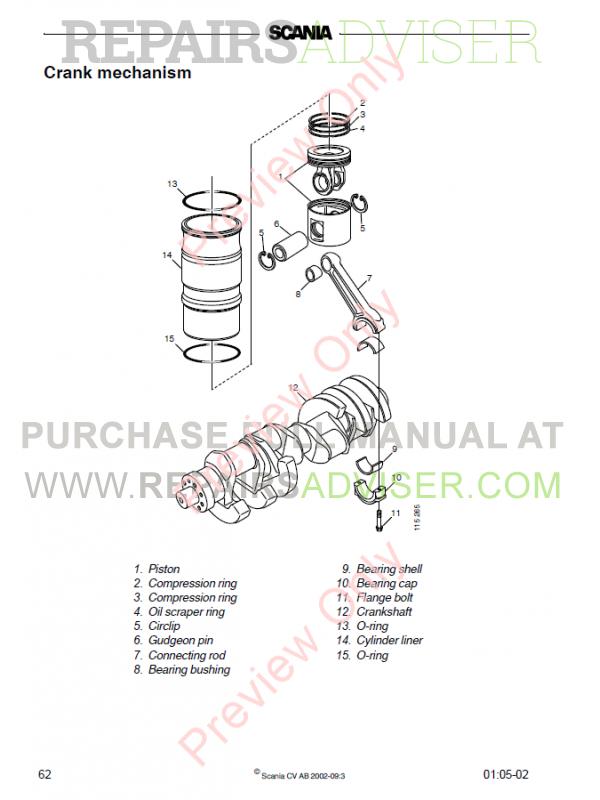 Scania DC16 Industrial, Marine Engines Workshop Manual Download