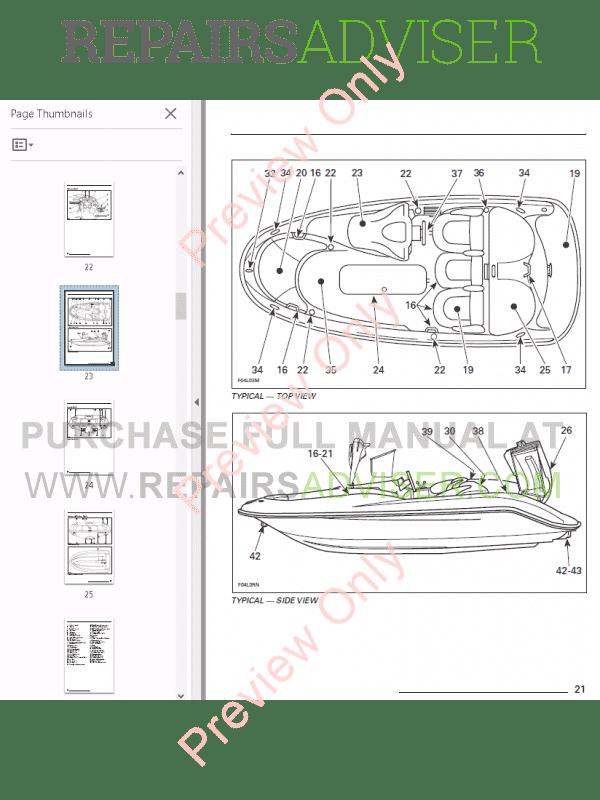Sea Doo Jet Boat Challenger 1800 Full Repair Manual 1997