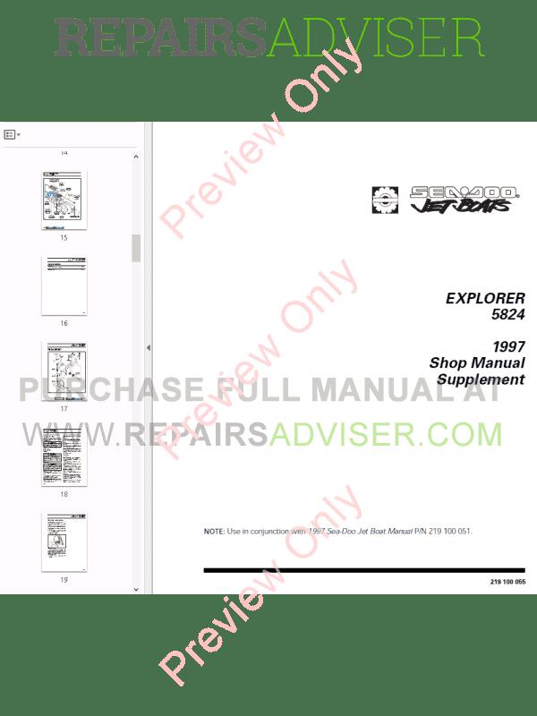 Seadoo challenger 1800 parts manual
