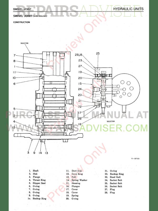 Takeuchi TB015 Compact Excavator Workshop Manual PDF Download