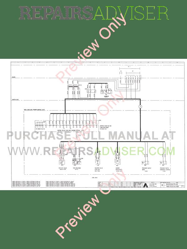 terex atlas 1504 1604 lc excavators workshop manual pdf download
