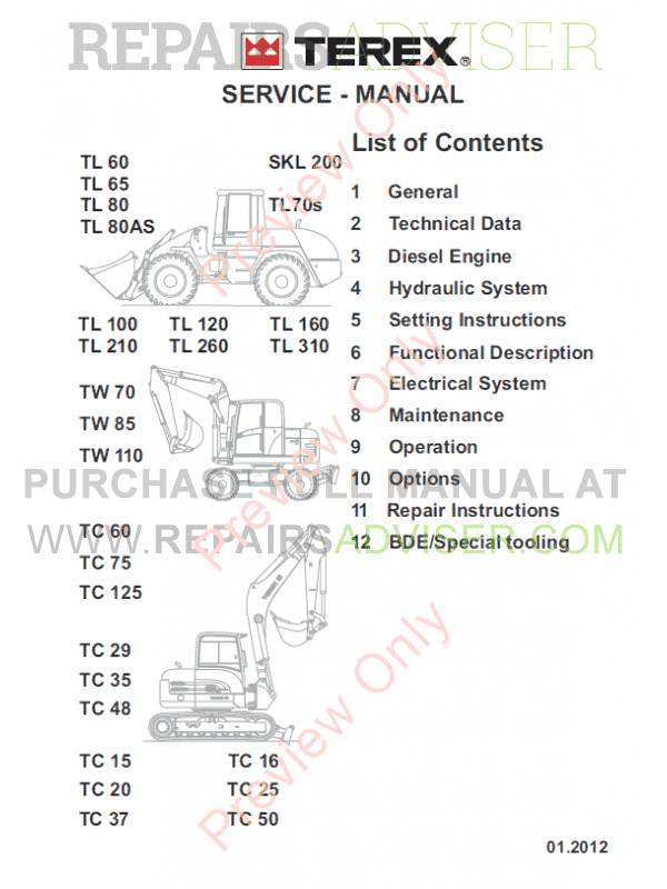 Terex Th1056 Forklift Wiring Diagram    Wiring Diagram