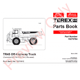 download terex parts service repair publications in pdf. Black Bedroom Furniture Sets. Home Design Ideas