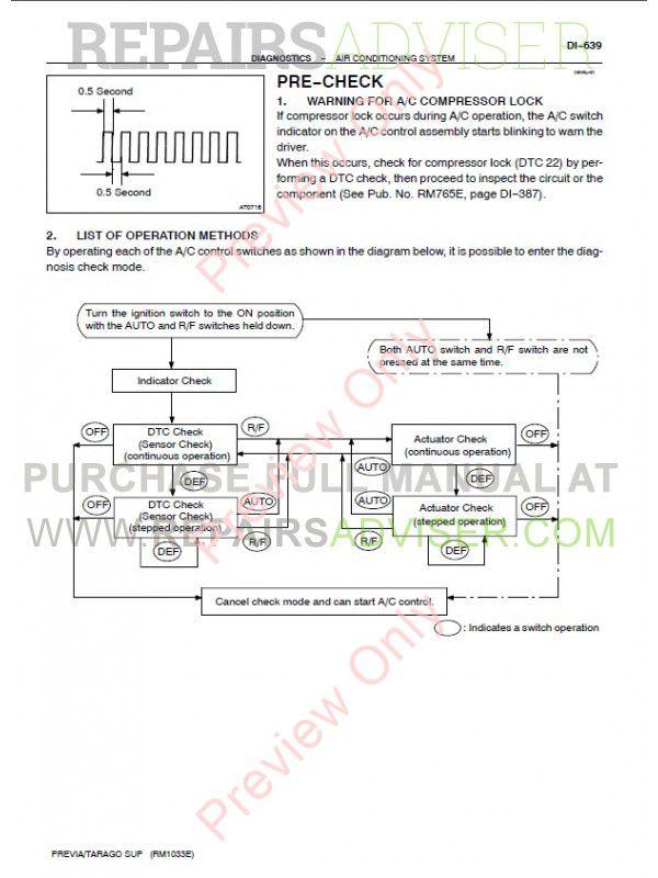toyota previa    tarago acr30  u0026 clr30 pdf manual download