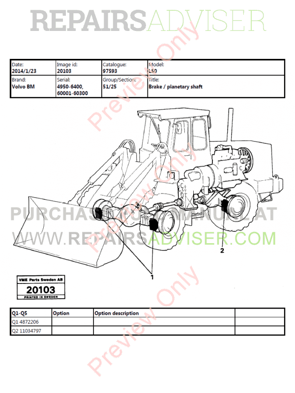 Wondrous Volvo Bm L50 Wheel Loader Parts Manual Pdf Wiring Database Lotapmagn4X4Andersnl