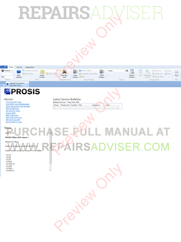 Volvo PROSIS Parts Catalog & Repair Manual 2019