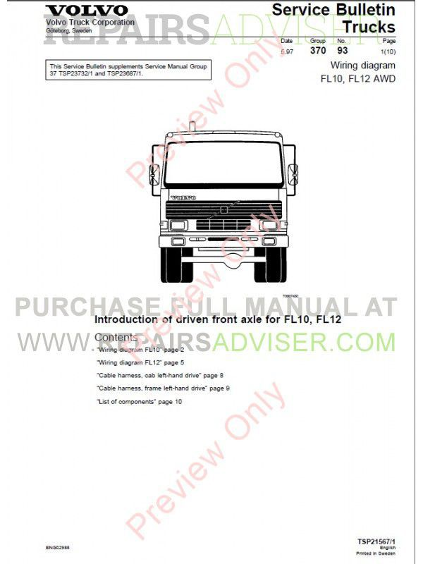 terex wiring diagrams terex discover your wiring diagram collections volvo trucks fl7 fl10 fl12 wiring diagram service manual pdf