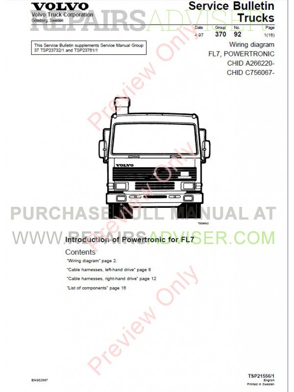wiring diagram volvo fl10 enthusiast wiring diagrams u2022 rh rasalibre co Volvo VHD Flatbed Double Cab Volvo FL30