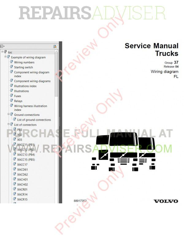 Volvo Heavy Truck & Diesel Engine Service Manuals & Diagnostic ...