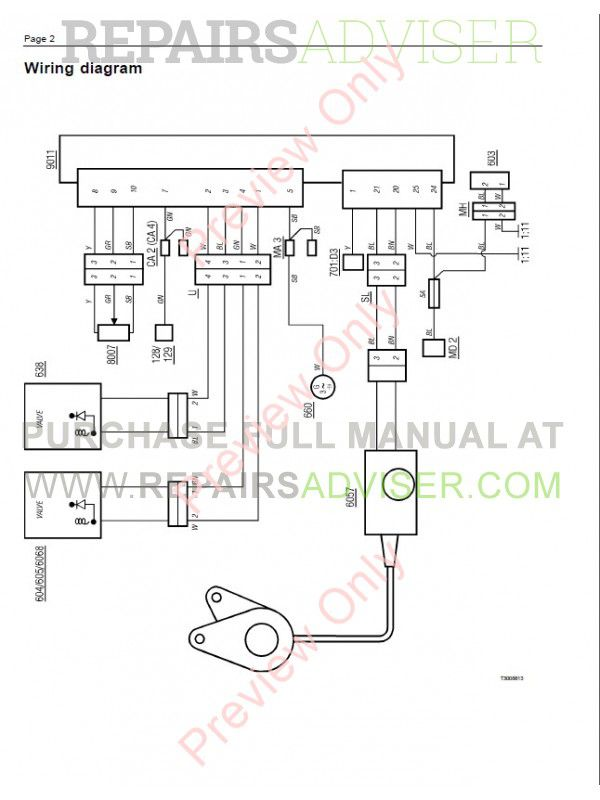 volvo trucks fl7 fl10 fl12 wiring diagram service manual