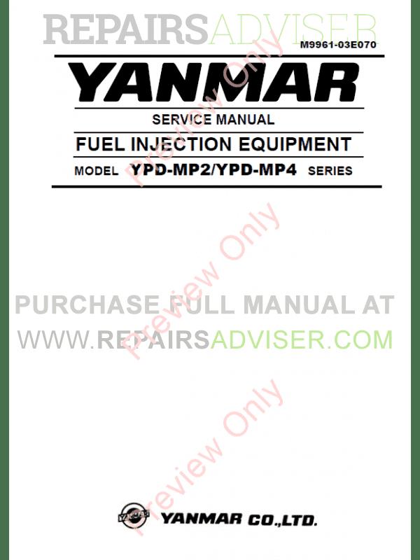 Yanmar vio20 Excavator manual downloads