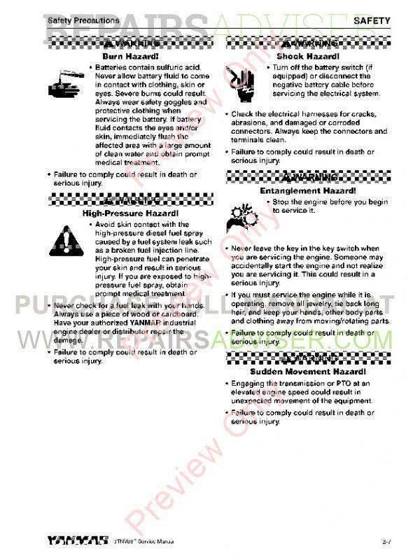 John Deere Industrial Engines 3TNV88F Yanmar Service Manual PDF, John Deere Manuals by www.repairsadviser.com
