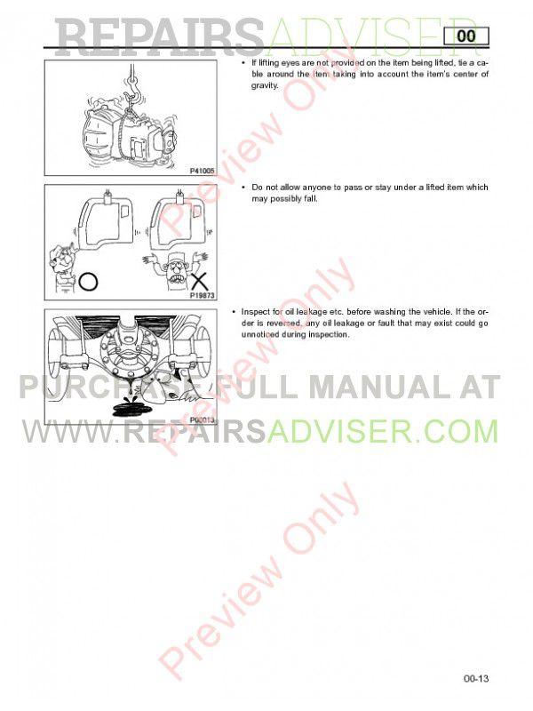 Mitsubishi Fuso 2005 Service Manual PDF Download