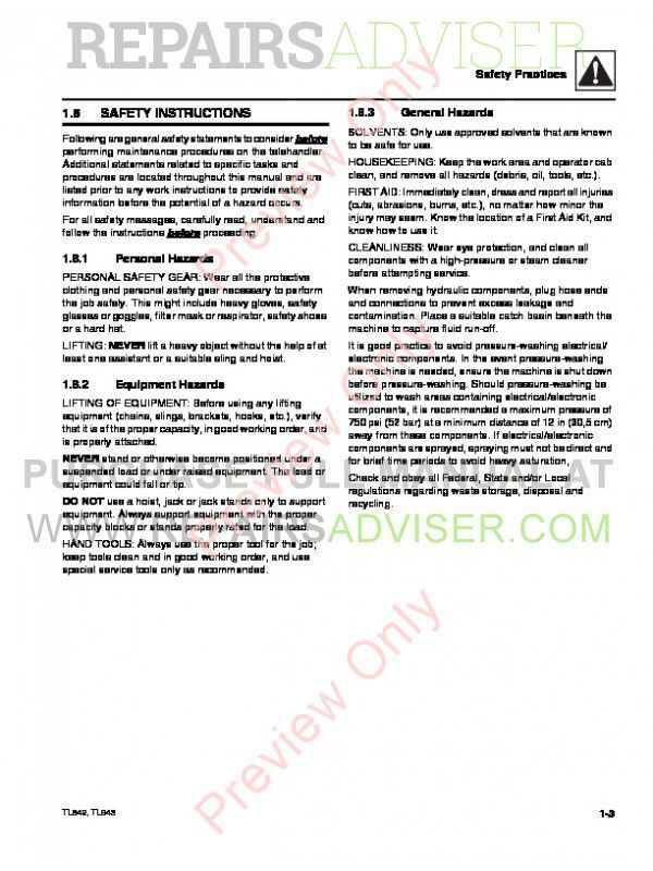 Caterpillar TL642 & TL943 Service Manual PDF, Caterpillar Manuals by www.repairsadviser.com