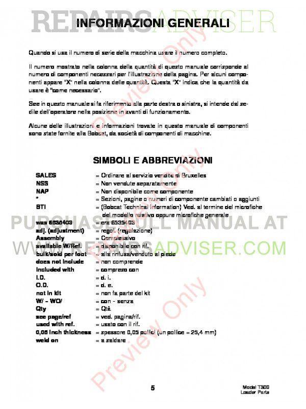 Bobcat T300 owners manual