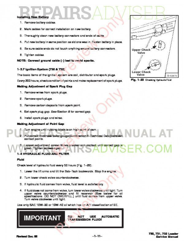 Bobcat 730, 731, 732 Skid Steer Loader Service Manual PDF, Bobcat Manuals by www.repairsadviser.com