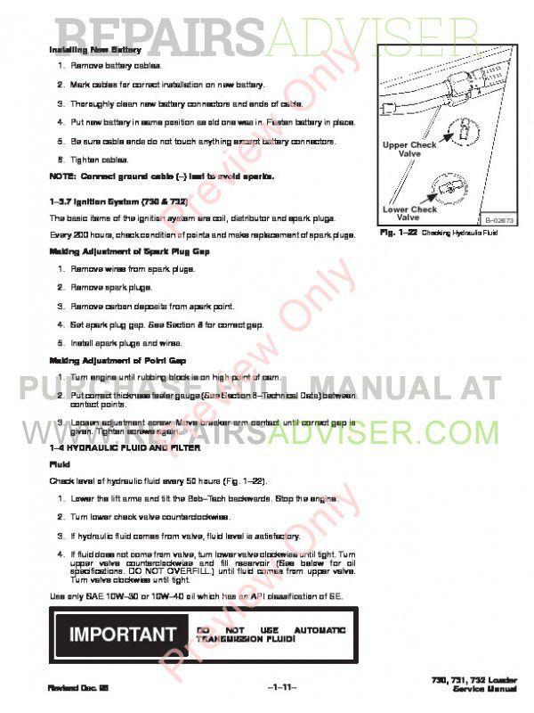 bobcat skid steer service manual