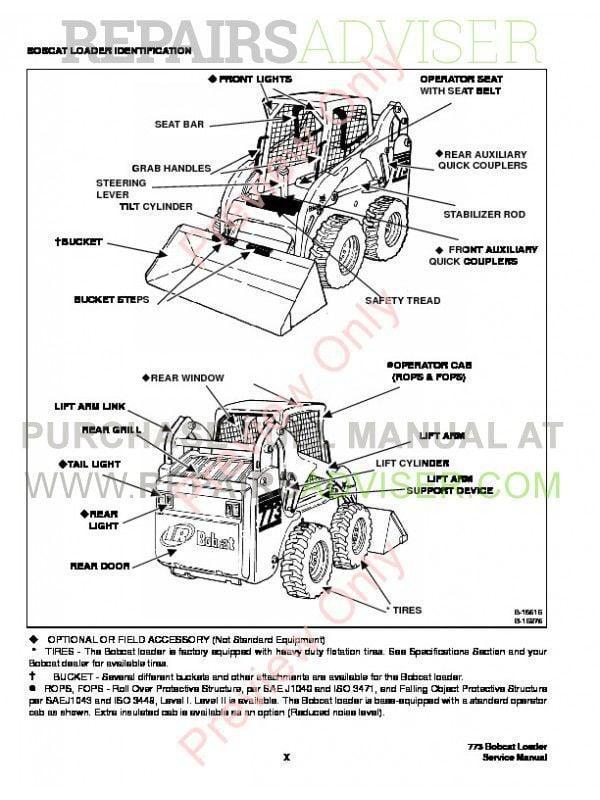 Bobcat    773  773 HF  773 Turbo GSeries Service Manual PDF Download