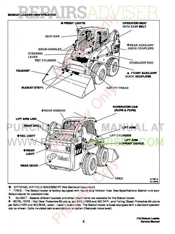 Bobcat 773 Parts Manual Download