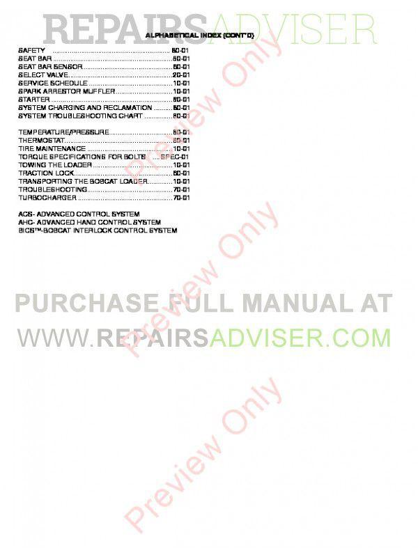 Bobcat 773 g Service manual