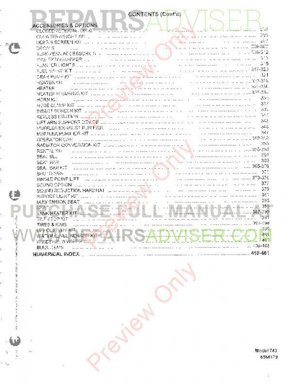 Bobcat 743 Skid Steer Loader Parts Manual PDF, Bobcat Manuals by www.repairsadviser.com