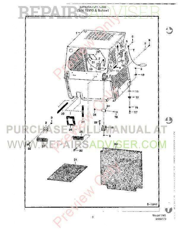 Bobcat 773 Part Number 6576261 Diagram