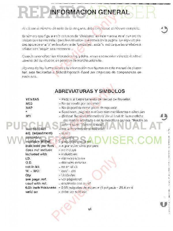 Bobcat 743 Skid Steer Loader Parts Manual PDF, Bobcat Manuals by www.repairsadviser.com